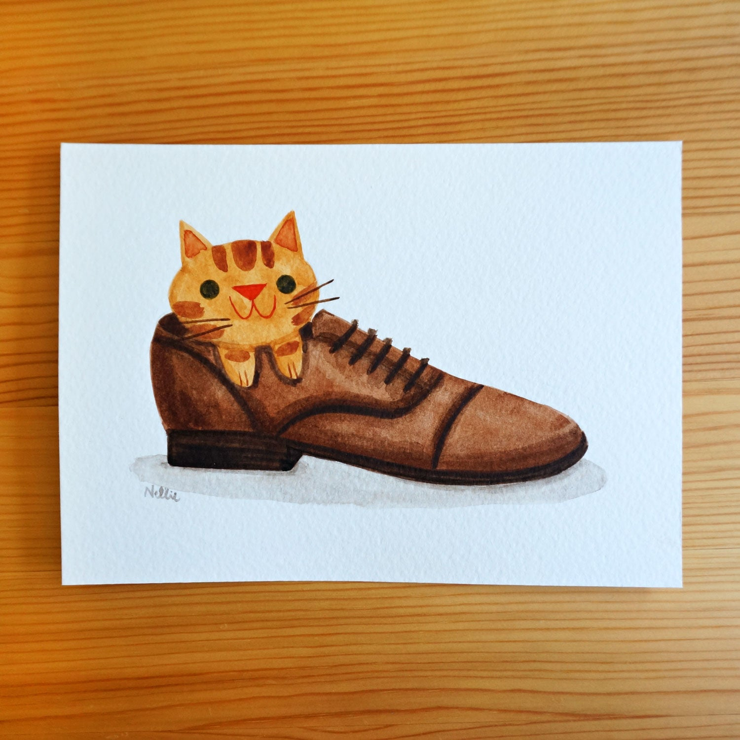 Cat in a Shoe - Original Painting