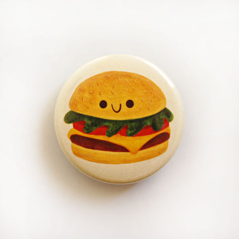 Cheeseburger Button