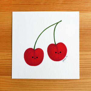 Cherry Twins - Mini Painting
