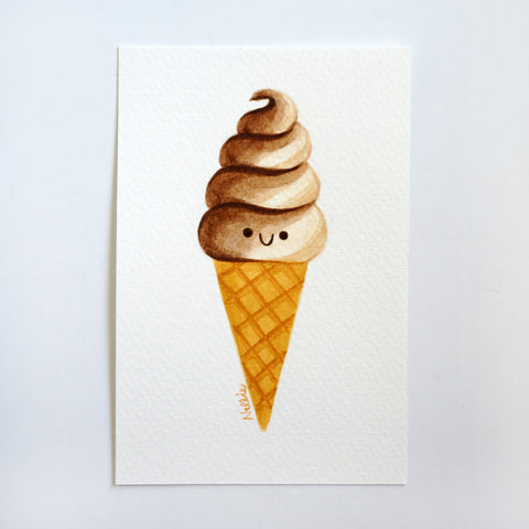 Chocolate Vanilla Swirl - Mini Painting