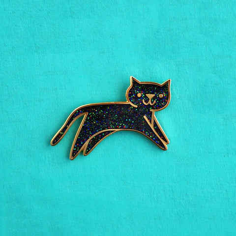 Cosmic Sparkle Cat Pin