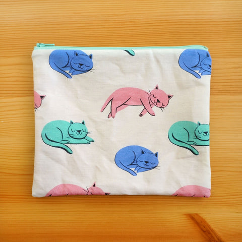 Cozy Cats Zip Pouch