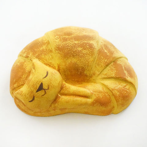 Croissant Cat Resin Figure
