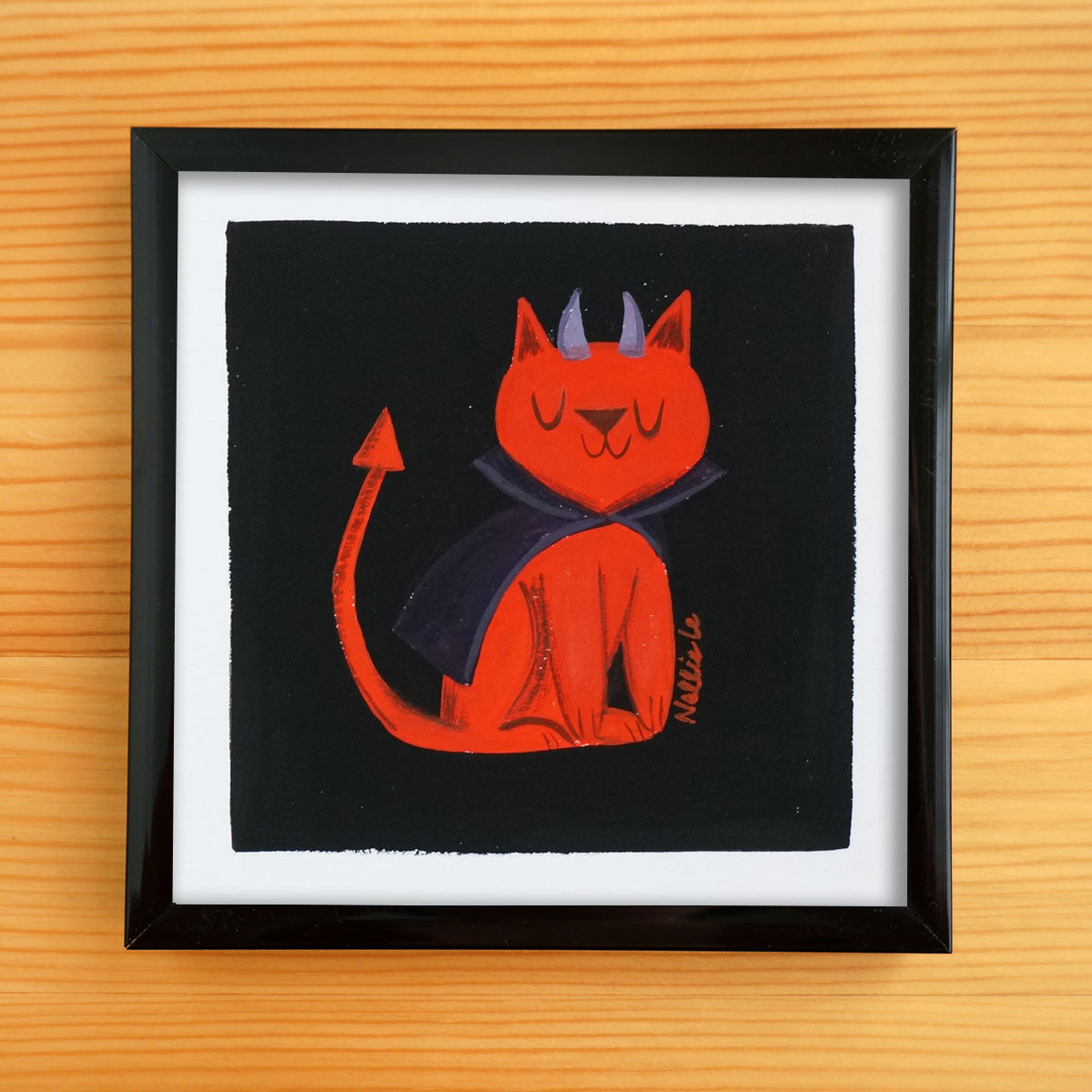 Devil Cat - Mini Painting