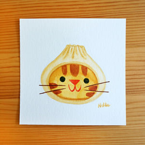 Dumpling Cat - Mini Painting