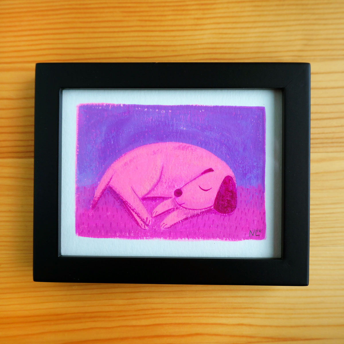 Evening Dog - Mini Painting