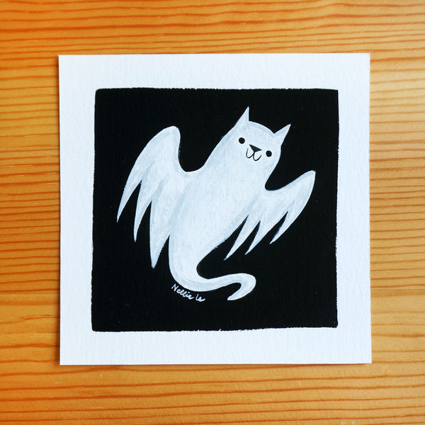 Feline Fright - Mini Painting
