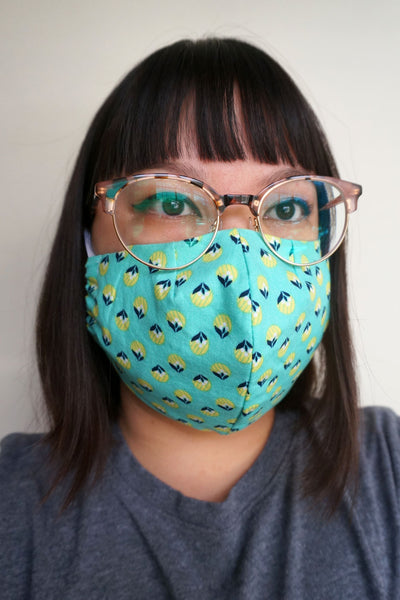 *PRE-ORDER* Turtle Shell - Fitted Face Mask
