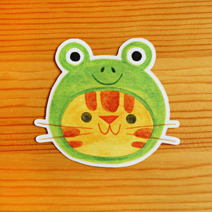 Frog Hat Sticker