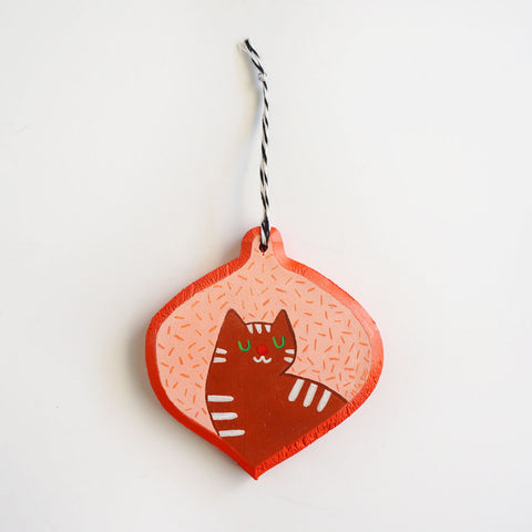 Gingerbread Cat Ornament