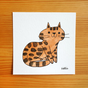 Gingerbread Tabby - Mini Painting