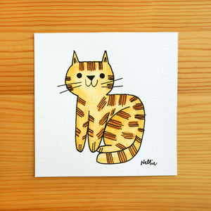 Lil Ginger Tabby - Mini Painting