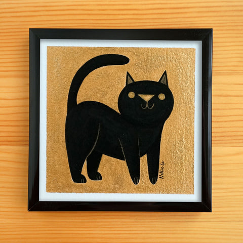Black Cat Strut - Mini Painting