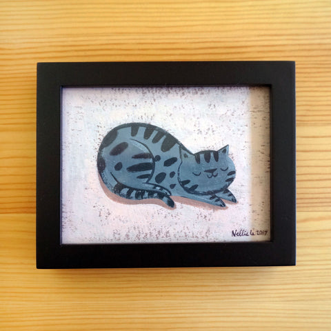 Grey Tabby - Mini Painting