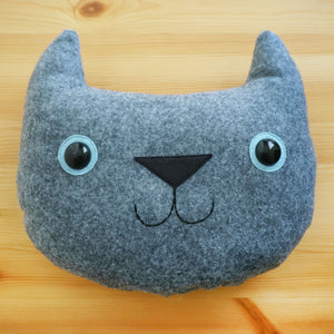 Little Blue the Grey Cat Pillow