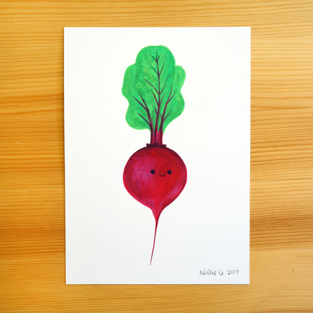 Happy Beet - 5x7 Painting