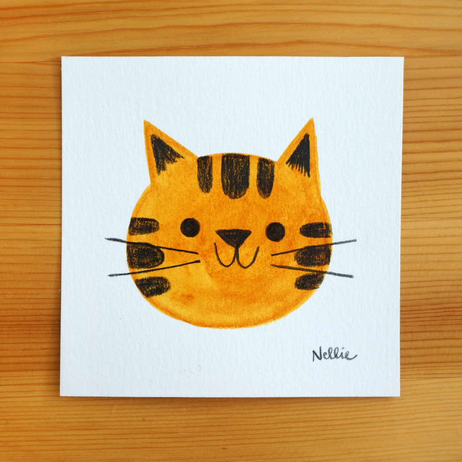 Happy Tabby Kitten - Mini Painting