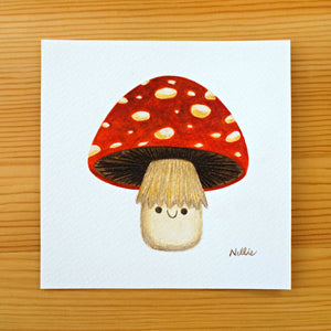 Happy Toadstool - Mini Painting
