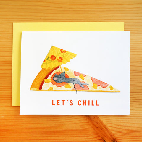 Let's Chill Hawaiian Pizza Card