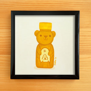 Little Honey Bear - Mini Painting