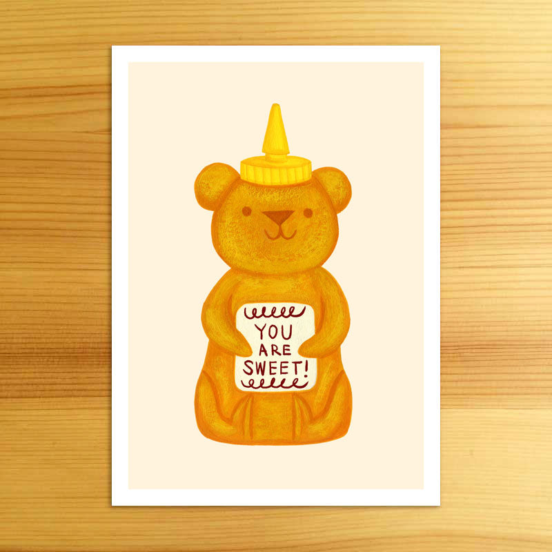Sweet Honey Bear - 5x7 Print