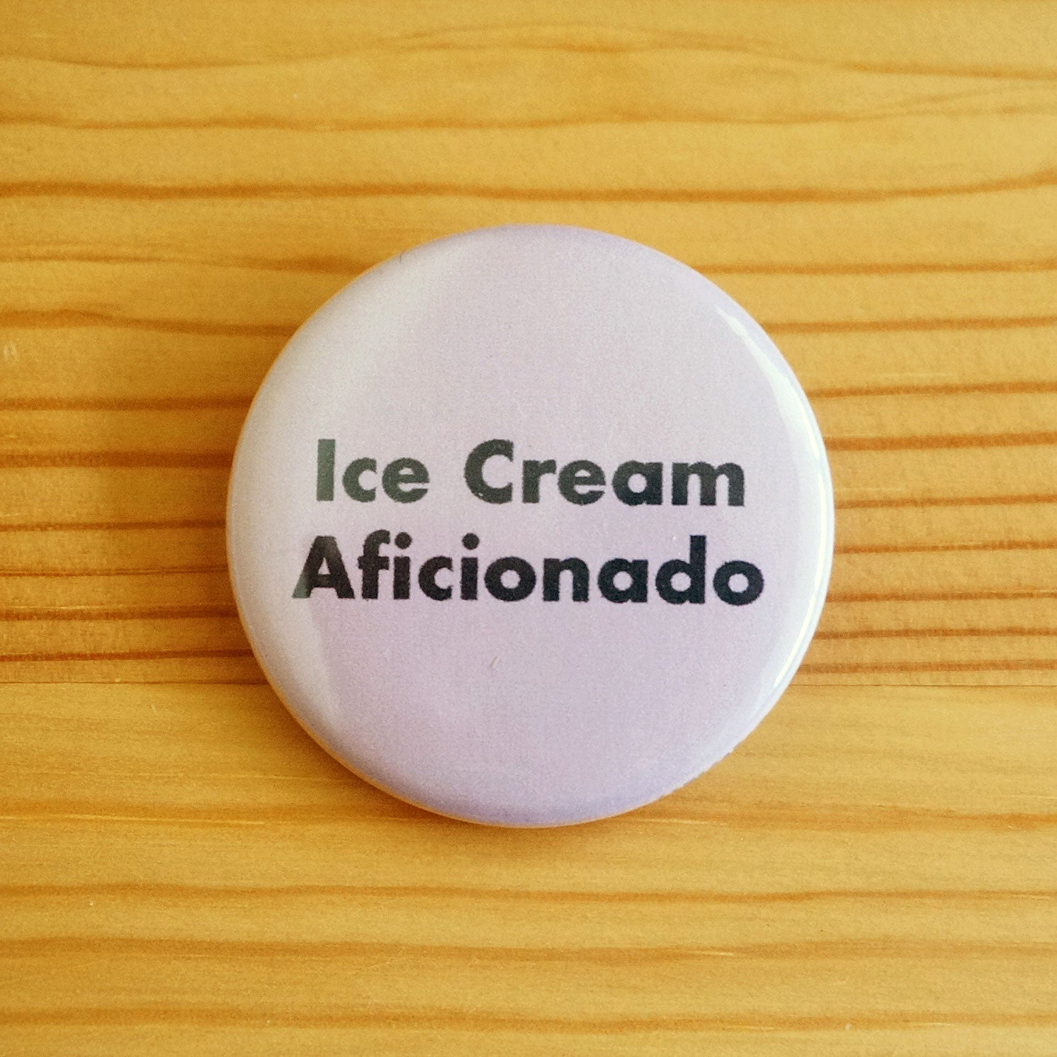 Ice Cream Aficionado Button