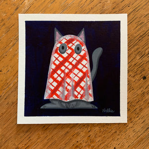 Picnic Blanket Ghost - Mini Painting