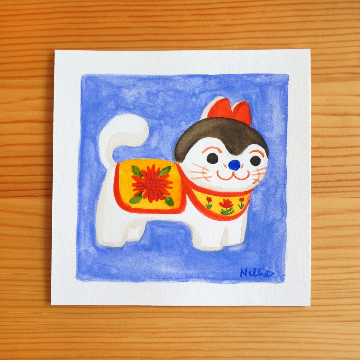 Inu Hariko - Mini Painting
