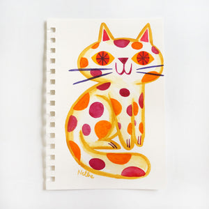 Jelly Bean Spotted Cat - Sketchbook Painting
