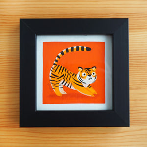 Kid Tiger Stretch - Mini Painting