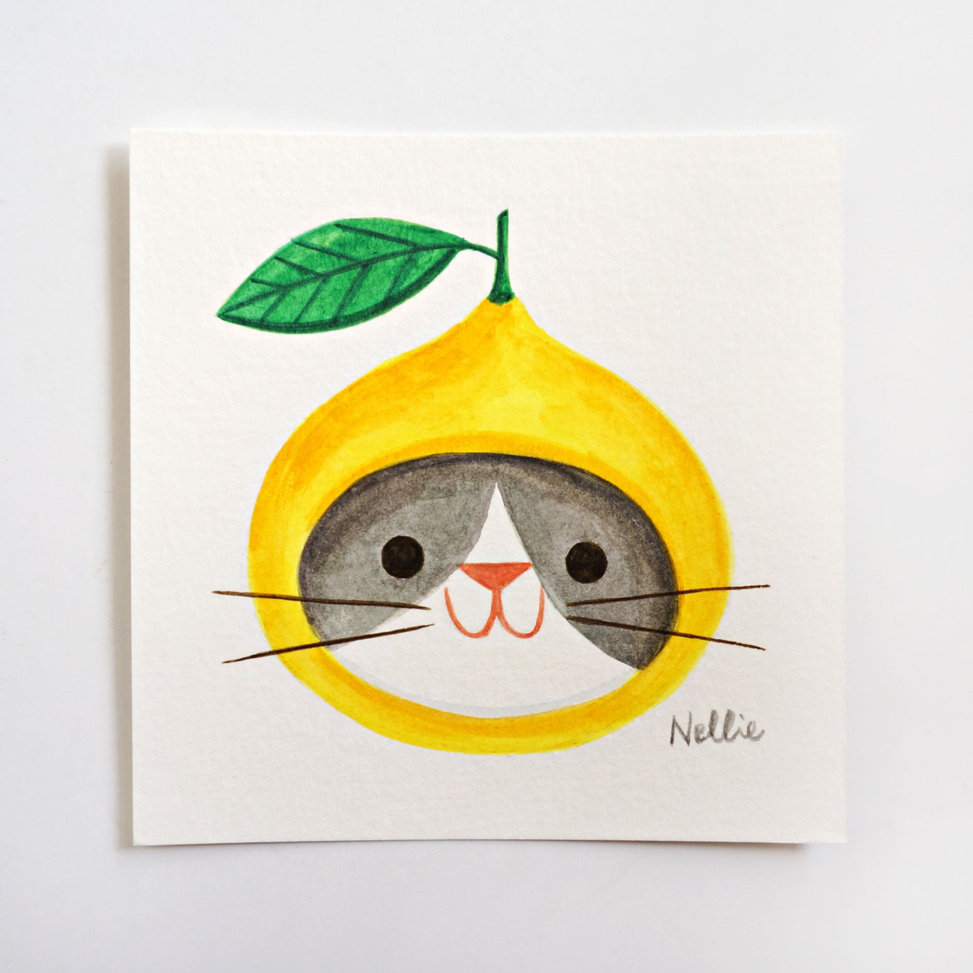 Lemon Cat 2 - Mini Painting