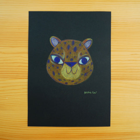 Leopard Face - Original Drawing