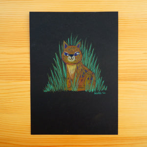 Leopard in the Grass - Original Drawing