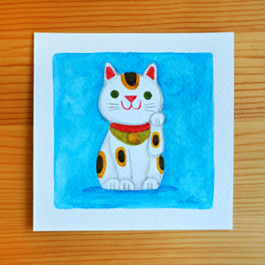 Lil Maneki Neko - Mini Painting