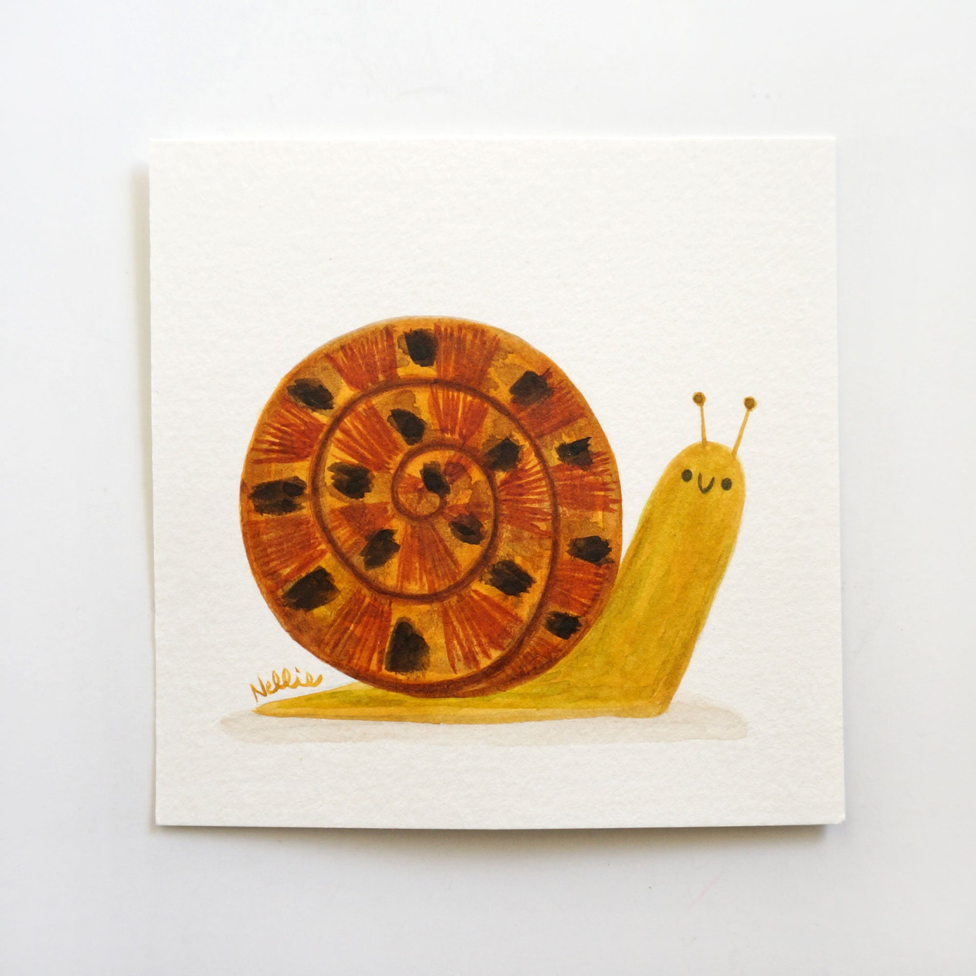 Little Speckled Snail - Mini Painting