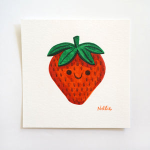 Little Strawberry - Mini Painting