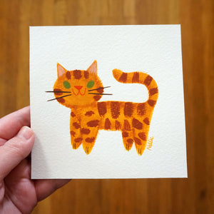 Little Ginger Cat - Mini Painting