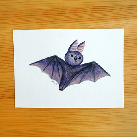 Little Bat Friend - 5x7 Painting