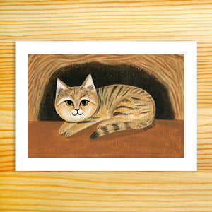 Little Sand Cat - 5x7 Print