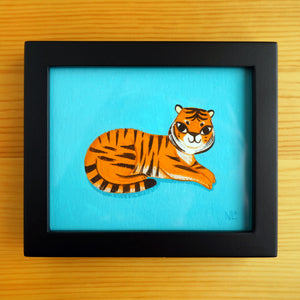 Little Lounging Tiger - Mini Painting