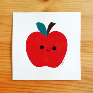 Little Red Apple - Mini Painting