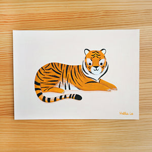 Lounging Tiger - Original Painting