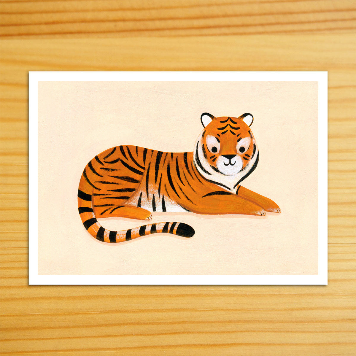 Lounging Tiger Art Print