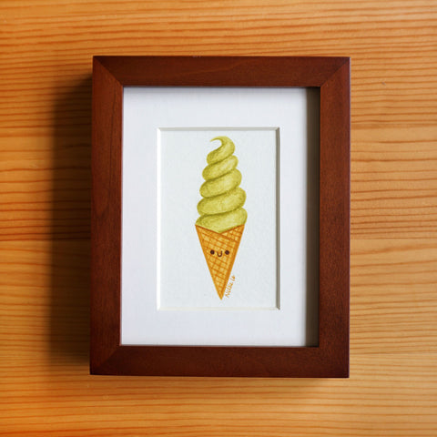 Matcha Swirl - Tiny Painting