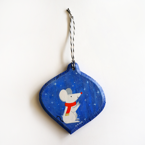 Merry Mouse Ornament