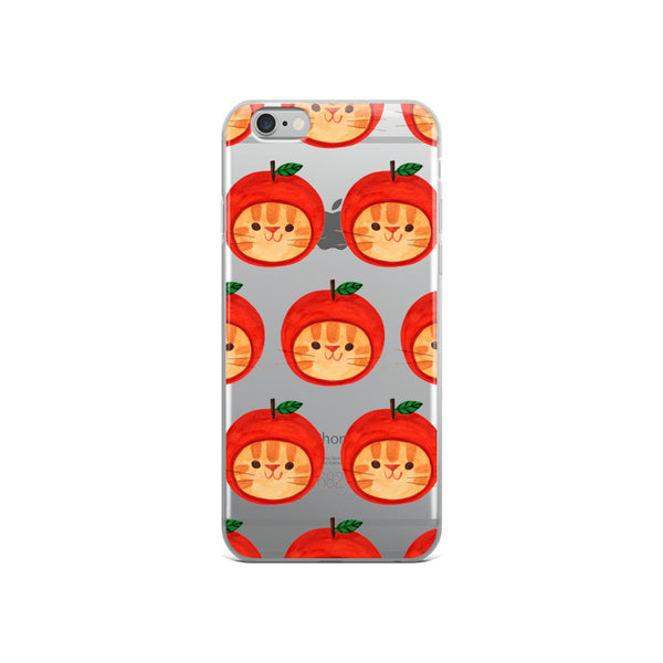 Apple Hat Cat - iPhone Case