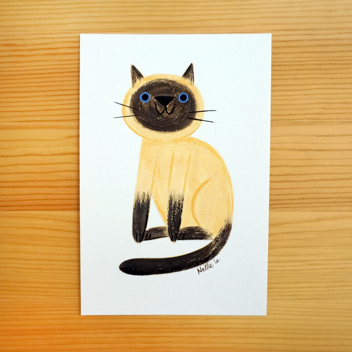 Naive Siamese Cat - Mini Painting