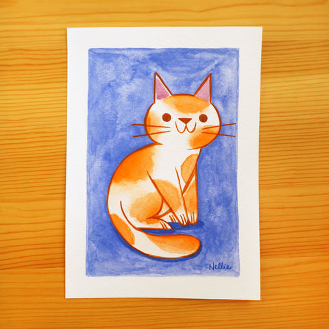 Orange Koi Cat - Mini Painting