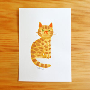 Little Orange Tabby - Sketchbook Painting