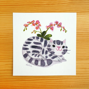 Orchid & Tabby - Mini Painting